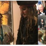Johnny Depp se fantasia de Jack Sparrow e visita crianças com câncer em hospital de Paris