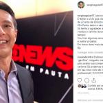 Sergio Aguiar, jornalista da GloboNews, se despede após 22 anos no canal