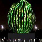 Ovo de Páscoa gigante é montado no Parque do Ibirapuera