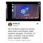 "Anitta anuncia lançamento de álbum ""audiovisual trilíngue"""