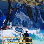 Kobra pinta primeiro mural em Mônaco com foco no aquecimento global
