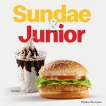 McDonald's lança combo Sundae & Junior