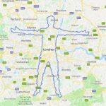 Homem caminha por dez dias para marcar sua silhueta no Google Maps