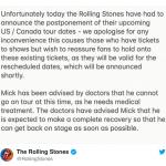 Rolling Stones suspende shows por problemas de saúde de Mick Jagger