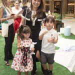 Karina, Manuela e Felipinho Sato Abreu