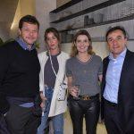 Jorge e Maria Flor Rocha, Daniela e Fernando Vallasa