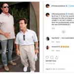 Sylvester Stallone faz piada com Arnold Schwarzenegger no Instagram