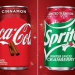 Coca-Cola de Canela e Sprite de Cranberry