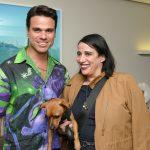 Beto Pacheco, Gloria Coelho e seu cachorrinho Gold