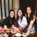 Daniela Favaretto, Erika Tukiama e Nathalie Ciriades
