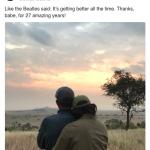 """Casal Obama troca mensagens românticas no Instagram: """"Obrigado pelos 27 anos incríveis"""""""