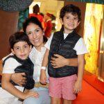 Arthur, Pedro e Maria Helena Vidigal Chagas