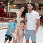 Julia, Gabriel, Eduarda e Rafael Faria