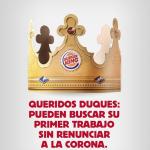 Burger King oferece trabalho a príncipe Harry