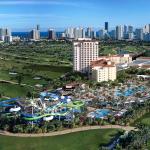 Condomínio em Miami com parque aquático particular, marina e aeroporto