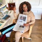 Oprah Winfrey cai no palco durante palestra motivacional