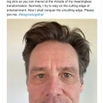 Jim Carrey vai mostrar o crescimento da barba durante a quarentena