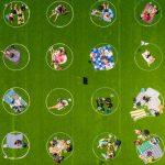 Parque de NY pinta círculos brancos para promover distanciamento social