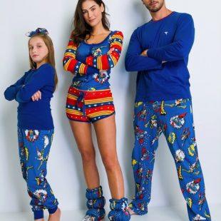 Pijamas da DC e de Friends