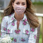 Kate Middleton aparece de máscara pela 1ª vez