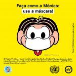 Turma da Mônica e ONU Brasil se unem para divulgar recomendações de proteção na pandemia