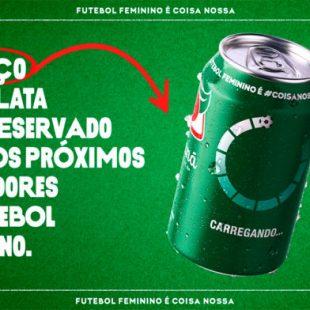 Guaraná Antarctica vai estampar em suas latas logos de marcas que apoiarem o futebol feminino