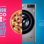 Parceria entre Domino's Pizza e Casas Bahia para Black Friday com 50% OFF, 2 meses de pizza grátis e R$ 500 em vale-compras
