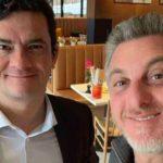 Sergio Moro e Luciano Huck se encontram em Curitiba
