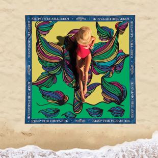 Magnum + Mixed lançam toalhas para distanciamento social nas praias nesse verão