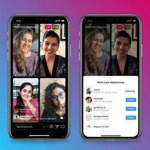 Instagram lança recurso 'Salas ao Vivo' que permite 4 pessoas transmitindo em live