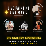 Beco do Batman tem Live Painting com Live Music, nesta sexta